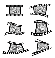 Film tape design vector