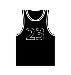 Flat black jersey icon vector