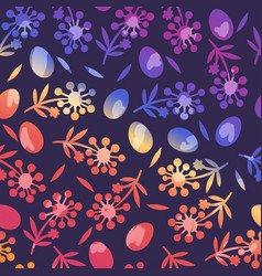 Flower seamless pattern for happy easter day vector