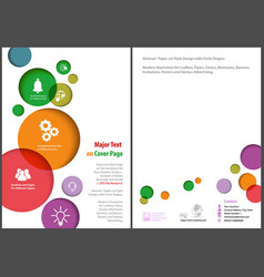 flyer template with colorful circles vector image