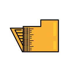 Folder file document image vector