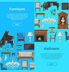 furniture seamless pattern furnishings vector image