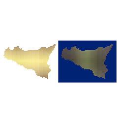 Gold abstract sicilia map vector