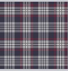 Gray red tartan plaid pattern vector