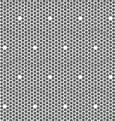 Gray small hexagons forming mosaic vector image