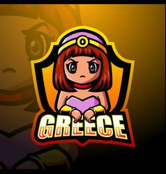 Greece mascot esport logo design vector