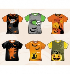 Halloween t-shirts vector image