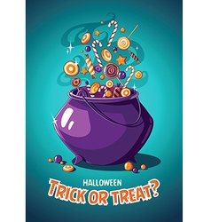 Halloween vintage poster Trick or treat Magic vector image