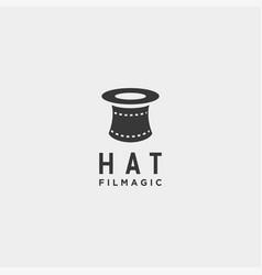 Hat magic movie cinema simple logo template icon vector