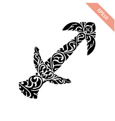 horoscope symbol - sagittarius vector image