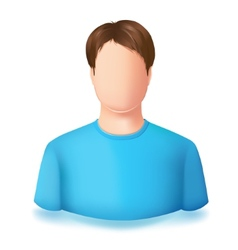 Icon of user male No face vector