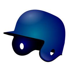 isolated baseball helmet vector image
