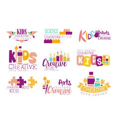 kids creative and science class template vector image