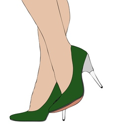 Legs with high heels 007 vector image