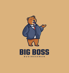 Logo big boss simple mascot style vector
