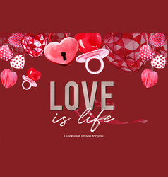 Love frame design with heart confection vector