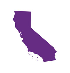 map of the us state of california vector image