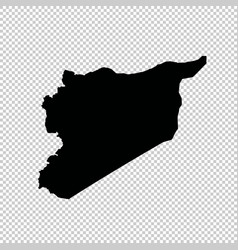 Map syria isolated black on vector