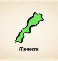 Morocco - outline map vector
