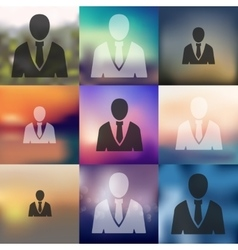 office people icon on blurred background vector image