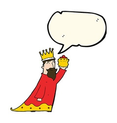 One of the three wise men with speech bubble vector