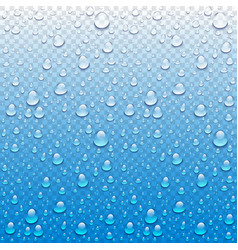 Photo realistic image of raindrops or vapor vector