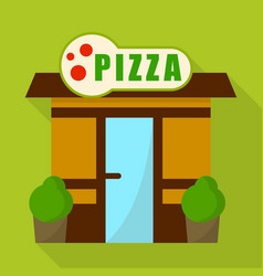pizza shop icon flat style vector image