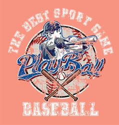 PlayBall baseball crackpaint vector