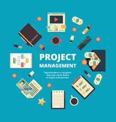 project management background concept of office vector image