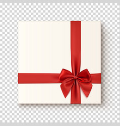 Realistic gift icon on transparent background vector image