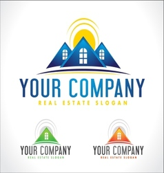 rReal Estate Design House vector image