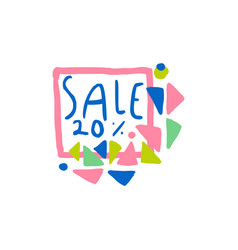 sale 20 percent off logo special offer label vector image