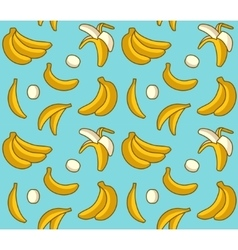 Seamless background of yellow bananas vector image