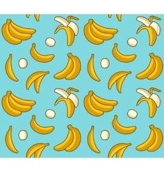 seamless background yellow bananas vector image