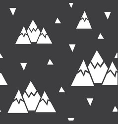 Seamless pattern made of mountains and vector