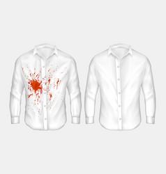 set white male shirt vector image