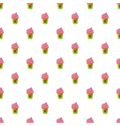 Shop with ice cream pattern cartoon style vector