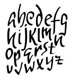 simple alphabet letters handdrawn grunge ink font vector image