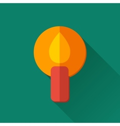 Simple candle icon in flat style vector image