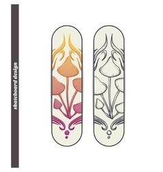 Skateboard Design Abstract Mushroom Five vector
