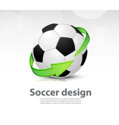 Soccer ball with arrow vector image