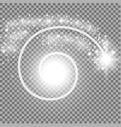 spiral with particle dust white color vector image