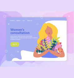 spring landing page vector image