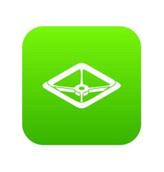 Square tap gas icon green vector