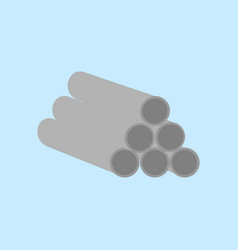 stack of industrial pipe graphic vector image