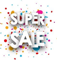 Super sale paper background vector image
