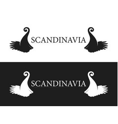 Symbol of scandinavia vector