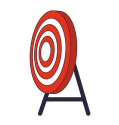 Target shooting cartoon vector