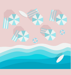top view beach without people flat style empty vector image