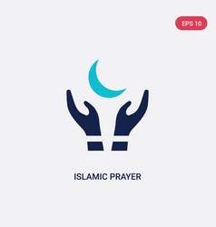 Two color islamic prayer icon from cultures vector